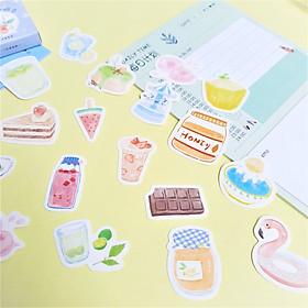Hộp 46 Miếng Dán Sticker Trang Trí Chủ Đề I Like It