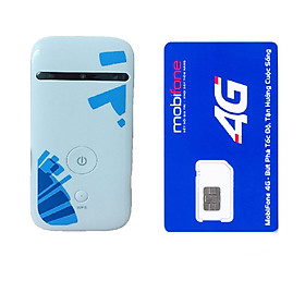 Bộ Phát WiFi Từ Sim 3G 4G ZTE MF65 Tốc Độ 21.6Mbps, Tặng Kèm Sim Mobifone 1 năm không phải nạp tiền ( Hàng Nhập Khẩu)
