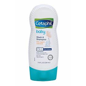Sữa Tắm Gội Cho Bé Cetaphil Baby Wash & Shampoo With Organic Calendula 230ml