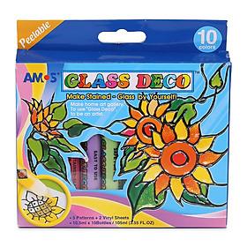 Bộ Bút Vẽ Trang Trí Amos Glass Deco GD10P10
