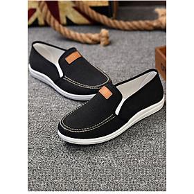 Giày Sneaker Thể Thao Đế Êm Chất Vải Cao Cấp TN46 - Đen
