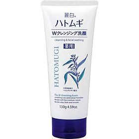 Sửa Rửa Mặt Ý Dĩ Hatomugi Naturie nội địa Nhật Bản 130g làm sạch nhờn, làm sáng da, mờ thâm mụn