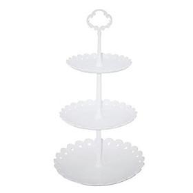 Khay bánh nhựa tròn 3 tầng