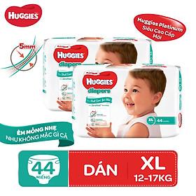 Biểu đồ lịch sử biến động giá bán Combo 2 tã dán Huggies Diapers Platinum XL44