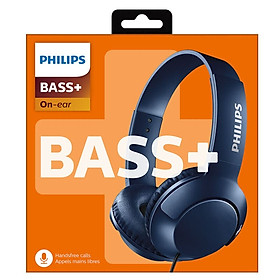 Philips (PHILIPS) wire headset bass fashion flat discount Bass + SHL3075 (blue)