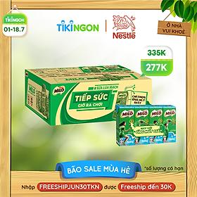 [Chỉ giao HN] [Phiên bản ống hút giấy] Thùng 48 hộp sữa lúa mạch Nestlé Milo ít đường (48x180ml)