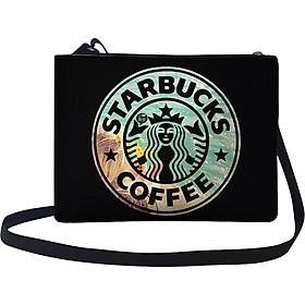 Túi Đeo Chéo Nữ In Hình Starbucks Coffee - TUTE151 (24 x 17 cm)