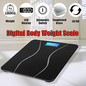 180 KG Digital Body Weight Scale LCD Electronic Glass Personal Health Scale