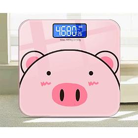 Cân sức khỏe điện tử Heo Hồng - Màn LCD - Pin AAA (KHÁC VỚI LOẠI DÙNG PIN SẠC)
