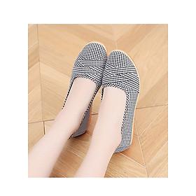 Giày mọi nữ đế bằng 2cm đi bộ cực êm chân 189