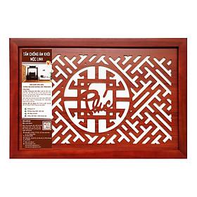 Tấm chống ám khói Mộc Linh 41x61 chữ Phúc màu Nâu