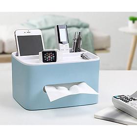 Hộp đựng giấy ăn kèm khay để điều khiển, điện thoại E1602