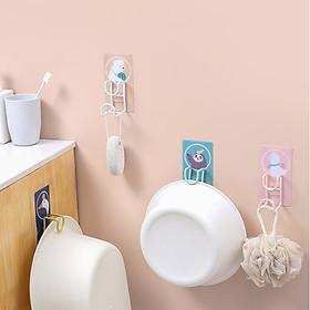 Móc treo chậu dán tường chất liệu KIM LOẠI bền đẹp, móc treo đồ dùng nhà tắm thông minh tiết kiệm diện tích - giao ngẫu nhiên