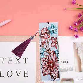 5D DIY Special Shaped Diamond Leather Tassel Book Marker Embroidery Crafts