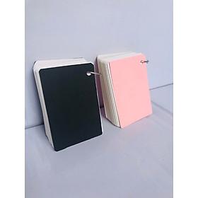 Combo 2 tập flashcard khổ lớn (7x10cm, 100 thẻ) tặng khoen bìa (Giao màu ngẫu nhiên)