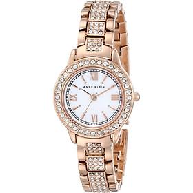 Đồng hồ nữ Đồng hồ nữ Anne Klein Women's AK/1492MPRG Swarovski Crystal Accented Rose Gold-Tone Bracelet Watch