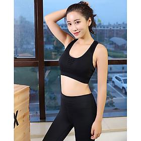 Áo Bra Lót Ngực Thể Thao Nữ Vải Dệt Kim Cao Cấp Tập Gym, Yoga, Zumba, Aerobic Hợp Thời Trang Có Lỗ Thoáng Khí Sexy