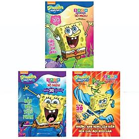 Bộ Sách Thực Hành Tô Màu Spongebob: Công Thức Làm Bánh + Đầu Bếp Siêu Phàm + Những Anh Hùng Của Biển Hóa Giải Mọi Hiểu Lầm (Bộ 3 Cuốn)