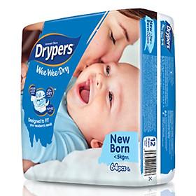 Tã Dán Drypers Wee Wee Dry Newborn NB64 (64 Miếng)-3