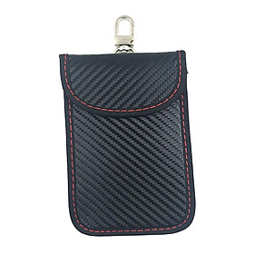 PU Leather Car Key Faraday Bag Signal Block Bag Cellphone Security Sleeve