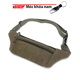 Túi đeo chéo đeo bụng đeo hong Vải bố siêu mỏng Tintin KA65 Tặng móc khóa A1 siêu ngầu