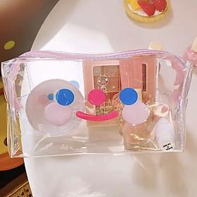 Túi Makeup - Hộp Bút Trong Suốt