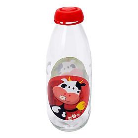 Chai thủy tinh đựng sữa Herevin Décor (1L)