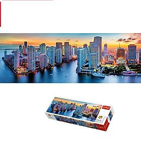 Tranh ghép hình TREFL 29027 - panorama 1000 mảnh Miami chiều tà (jigsaw puzzle Tranh ghép hình )