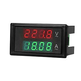 AC 80-300V 100A Digital Voltmeter Ammeter Amperage Tester Gauge Green Red LED Amp Dual Display AC Panel Current Meter