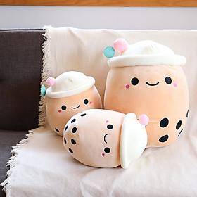 Gấu Bông Gối Ôm Thú Bông, Nhồi Bông Hình Ly Trà Sữa Ống Hút Hồng Xinh Xắn Ngộ Nghĩnh Quà tặng Đáng Yêu 30cm