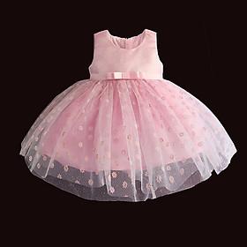 Đầm voan ánh kim Quảng Châu cao cấp cho bé 6 tháng - 4 tuổi