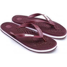 Dép massage chân vinalogi đỏ bordô