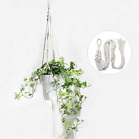 Dây treo chậu cây cảnh lọ hoa dây trang trí phối màu - chất liệu Cotton tự nhiên thân thiện với môi trường