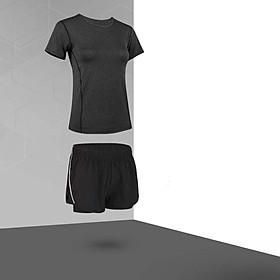 Bộ quần áo thể thao nữ, Quần áo gym nữ chạy bộ (SP097)