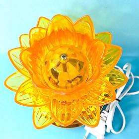 Đèn trang trí xoay hoa sen dĩa SG vàng