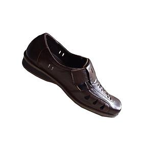 Hình đại diện sản phẩm Giày rọ nam nâu da bò cao cấp GM031
