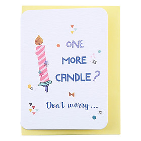 Thiệp Sinh Nhật Maisen One More Candle