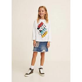 Áo thun tay dài họa tiết hoạt hình Mango Minnies cho bé gái - 33095718