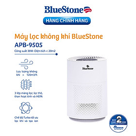 Máy Lọc Không Khí BlueStone APB-9505 (Diện tích sử dụng 20m2 - 38W)  - Hàng Chính Hãng