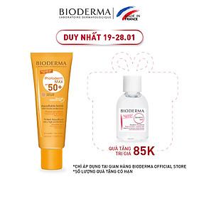 Kem chống nắng giảm bóng nhờn cho mọi loại da Bioderma Photoderm MAX Aquafluide Teinte Claire SPF 50+ - 40ml (Màu Light)