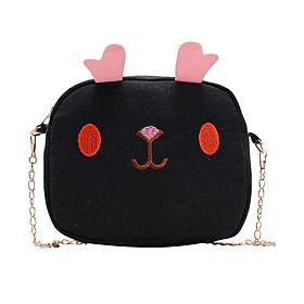 New Baby Girls Cartoon Fashion Backpacks Cute Cotton Storage Bag Single Shoulder Bag Canvas Shoulder Children's Bags