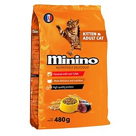 Thức ăn cho mèo Minino Tuna Flavored 480gr