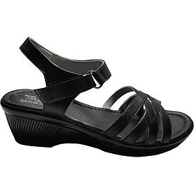 Giày Sandal Nữ Đế Xuồng BIGGBEN Da Bò Thật SDN38