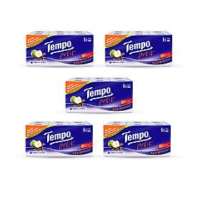 Combo 5 lốc Khăn giấy Tempo Petit Applewood (Lốc 6 gói)