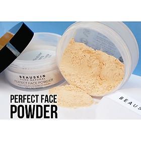 Phấn phủ bột Beauskin Perfect Face Powder Hàn Quốc 30g #21 Natural Beige tặng kèm móc khoá-6