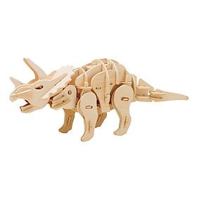 Mô Hình Gỗ Robotime Khủng Long Triceratops Nhỏ (Âm Thanh) D430