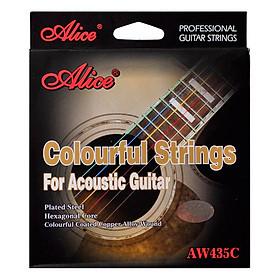 Dây Đàn Guitar Acoustic Alice AW435C - Nhiều Màu