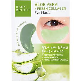 Combo 4 Mặt nạ giảm thâm quầng mắt Baby Bright Aloe Vera & Fresh Collagen Eye Mask 1Pair