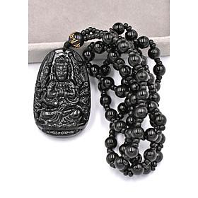 Hình đại diện sản phẩm Vòng cổ Phật Thiên Thủ Thiên Nhãn thạch anh đen 4.3cm DHTEB8
