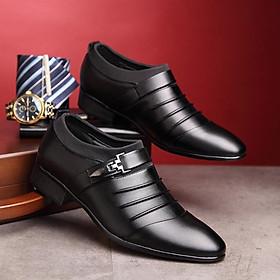 Giày Da Nam - Kiểu Dáng Giày Lười Sang Trọng - Mẫu Thiết Kế Mới, Đơn Giản, Trẻ Trung, Thời Trang - Hàng Loại Tốt, Bền, Đẹp - Tặng Kèm 1 Chiếc Nhẫn Siêu Cá Tính